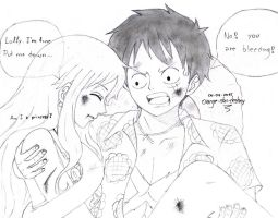 Luffy x Nami: after the final battle... by orange-star-destiny