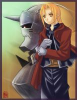 : Edward and Alphonse Elric : by ChanpART