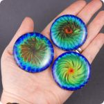 50mm (2-inch) lampwork art glass cabochons by janehamill