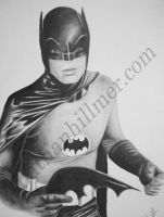 Batman from the 1960's Adam West TV series by jonathan-hillmer