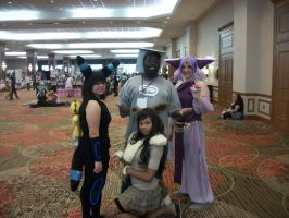 Animefest '12 - Me and Pokemon Girls by TexConChaser