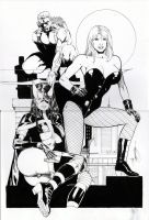 black canary end huntress by amorimcomicart