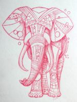 Steampunk Elephant Tattoo Design by Lucky101212
