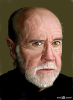 George Carlin Face Study by DrD-no