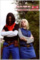 Dragonball - cosplay 17 and 18 by Nostal