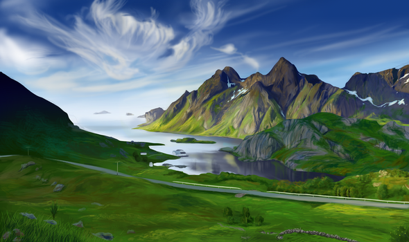 Digital Painting -Environment by miscanthusroyalty