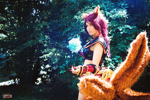 Foxfire Ahri - Don't you trust me?~ by ToukoCosplay