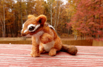 Needle Felted Eastern Chipmunk by DancingVulture