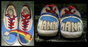 My first custom shoes YAY by Mrmr-Hearts-Every1