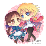 Acrylic Charm 2 Howl and Sophie by arisa-chibara