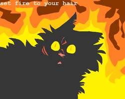 :warriors: set fire to your hair by Singerwolf