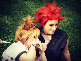 Axel and Roxas - Nyan! by Sweepzebrine