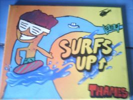 man surfing on the themes by reaperjrJLD