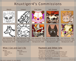 .:2015 Commission Sheet:. by Knuxtiger4