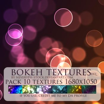 Bokeh light textures pack 10 by Neveryph-stock