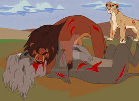 Kovu vs Shagga by QuinnBases