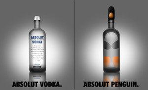 Absolut Penguin by b--art
