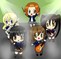 K-on Chibi on stage by Nome-chan