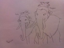 Katie and Meghan- Ice Age 4 by RIO4ever1