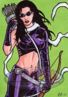 Kate Bishop Sketch Card by ElainePerna
