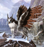 Flying fantasy creature by Nneila