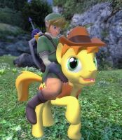 Hey there, pardner.  I'm your new stallion! by Pika-Robo