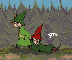 snufkin and his dad or sth by javvie