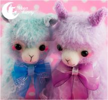 Sweety plush alpaca Charm by CuteMoonbunny