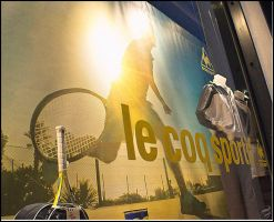 Le Coq Sportif Window Banner Perry Sport by Exquision