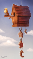 DAY 11. Birdhouse (40 Minutes) by Cryptid-Creations