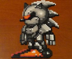 Mecha Sonic Bead Sprite by monochrome-GS