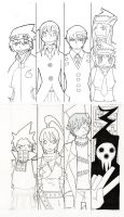 Bookmark sketches:Soul Eater by Winged-Evil