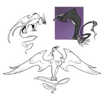 Evil gryphon sketches by Drkav