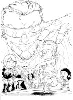 NOOB 6 VARIANT COVER BW by dekarogue
