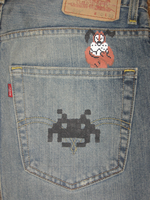 8-Bit Jeans, Pocket Invaders by GoodAsh03