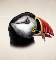 Dimorphodon- Puffin - All Yesterdays by MALvit