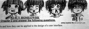 Drawing on my homework sheet... by anime-master-96