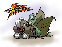 Elena Street Fighter Tickled by PawFeather