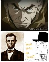 Aang and Abe Lincoln by AKCmangaka