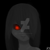 Red eyed girl by Carissa-Leeanne