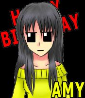 Happy birthday Amy by theunh0lyl0ver