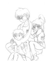 Lavi and his kids sketch by superjacqui
