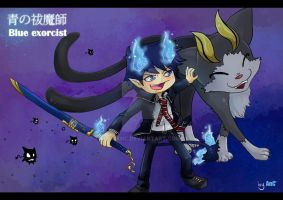 Ao no exorcist by byAnC