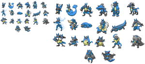 Another 20 Lucario Fusions by DarkShinyCharizard