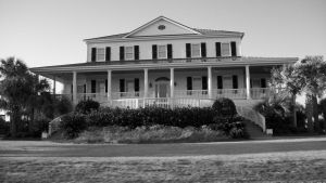black and white house on oak island by angelbaby88