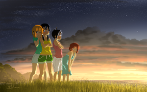 Tamako Market - Pacific Sunset by xZDisturbedZx