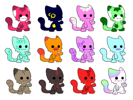 Adoptables Cats (7/12) by AlexandraTale