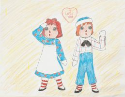 Raggedy Ann-ime (and Andy) by Subarufoxboy