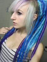 Blue Dreads by kime-stock