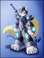 Commission: Reploid character design by zeiram0034
